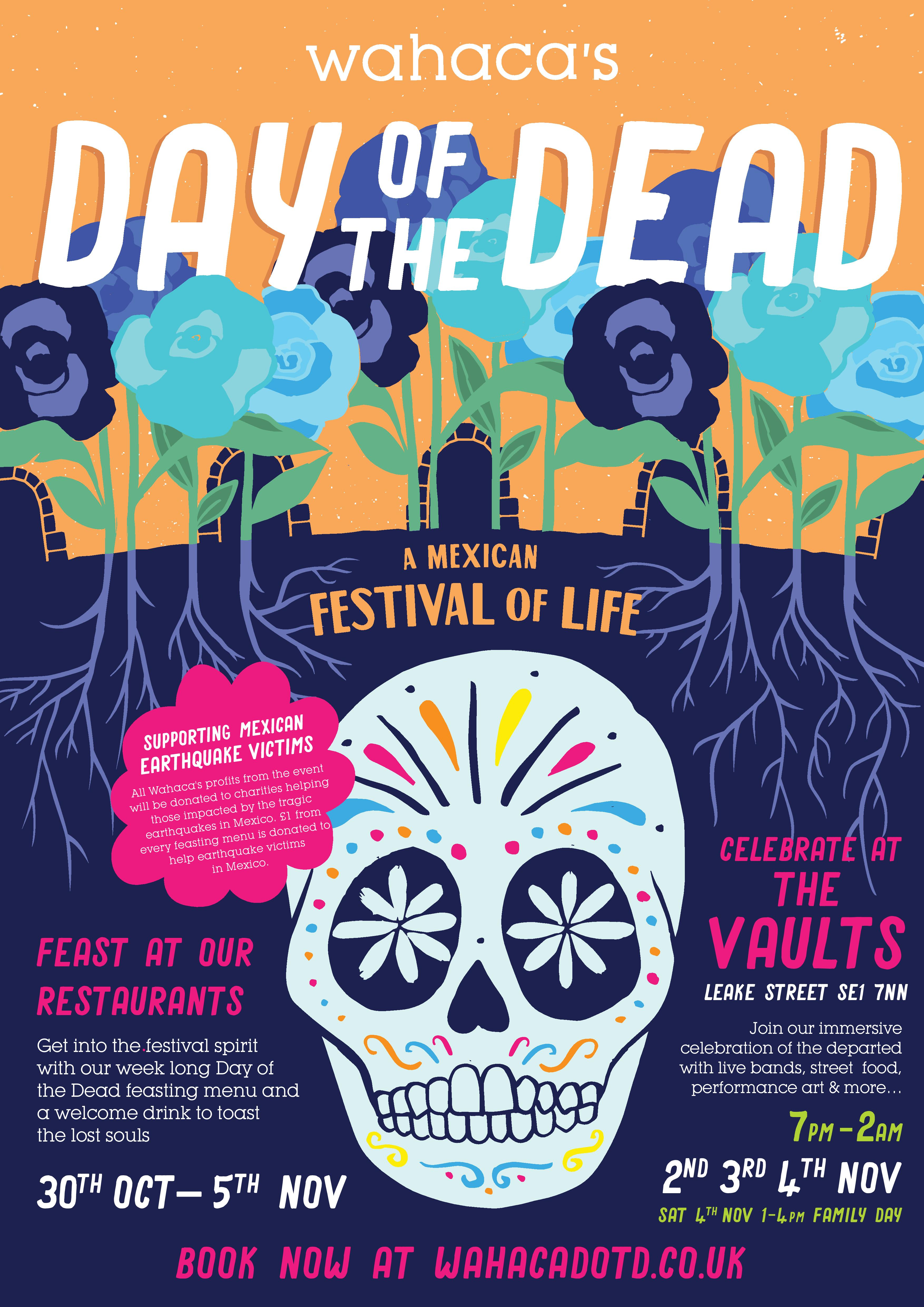 Canela Fina! | Day of the Dead - Wahaca & The Vaults